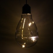 Solar Hanging Light Bulb Clear