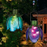 Solar Iris Flower Lantern Light