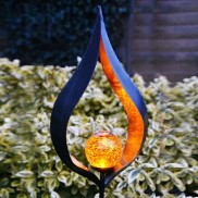 Solar Metal Flame Stake Light