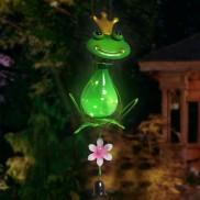 Solar Metal Garden Hanger Frog