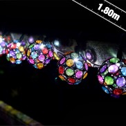 Solar Multi Glow Gem String Lights