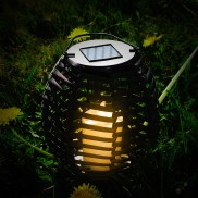 Solar Rattan Effect Lamp (2 Pack) (19281)