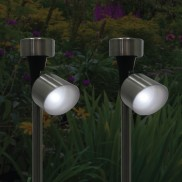 Solar Stainless Steel Spotlights (2 Pack)