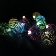10 Solar Swirl String Lights