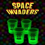 Space Invaders Glow Shot Glasses (4 Pack)