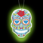 Sugar Skull Glow in the Dark Air Freshner