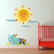 Sunshine & Animals Nightlight with Sticker