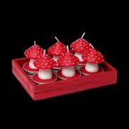 Toadstool Tea Lights (6 Pack)