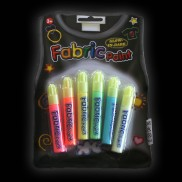 3D Glow in the Dark Fabric Paint (6 Pack)