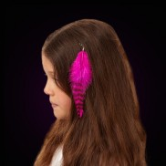 Hot Pink Hair Feather