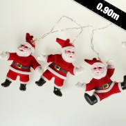 Vintage Santa String Lights