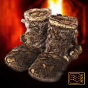 Warmies Wolf Fur Boots