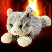 Warmies Grey Plush Cat