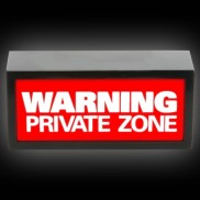Warning Private Zone Lamp
