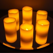 Wax Votive LED Candles (6 Pack)