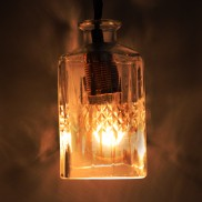 Whiskey Decanter Pendant Light