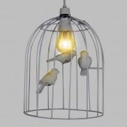 White Birdcage Pendant (19002)
