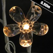 50cm Battery Operated White Flower Twig Lights