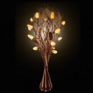 White Okra Floor Lamp