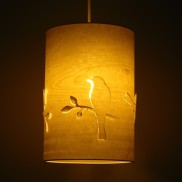 Wood Veneer Bird Cutout Lamp (19039)
