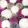 10 LED White Pompom Dual Power String Lights