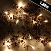 1.8m 20 Warm White Bronze Garland