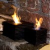 Real Flame Lamp - Black Cube