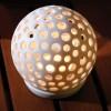 Round Ceramic Lit Ball