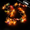 Thai Silk And Bead Butterfly String Lights
