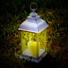 White Flickering Flame Candle Lantern