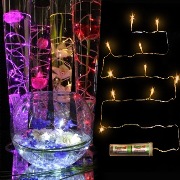 Diy Floral String Lights : Submersible Decor String Lights - LED Flower Arranging Floral Display Waterproof eBay