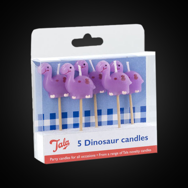 Dinosaur Birthday Candles 5 Pack