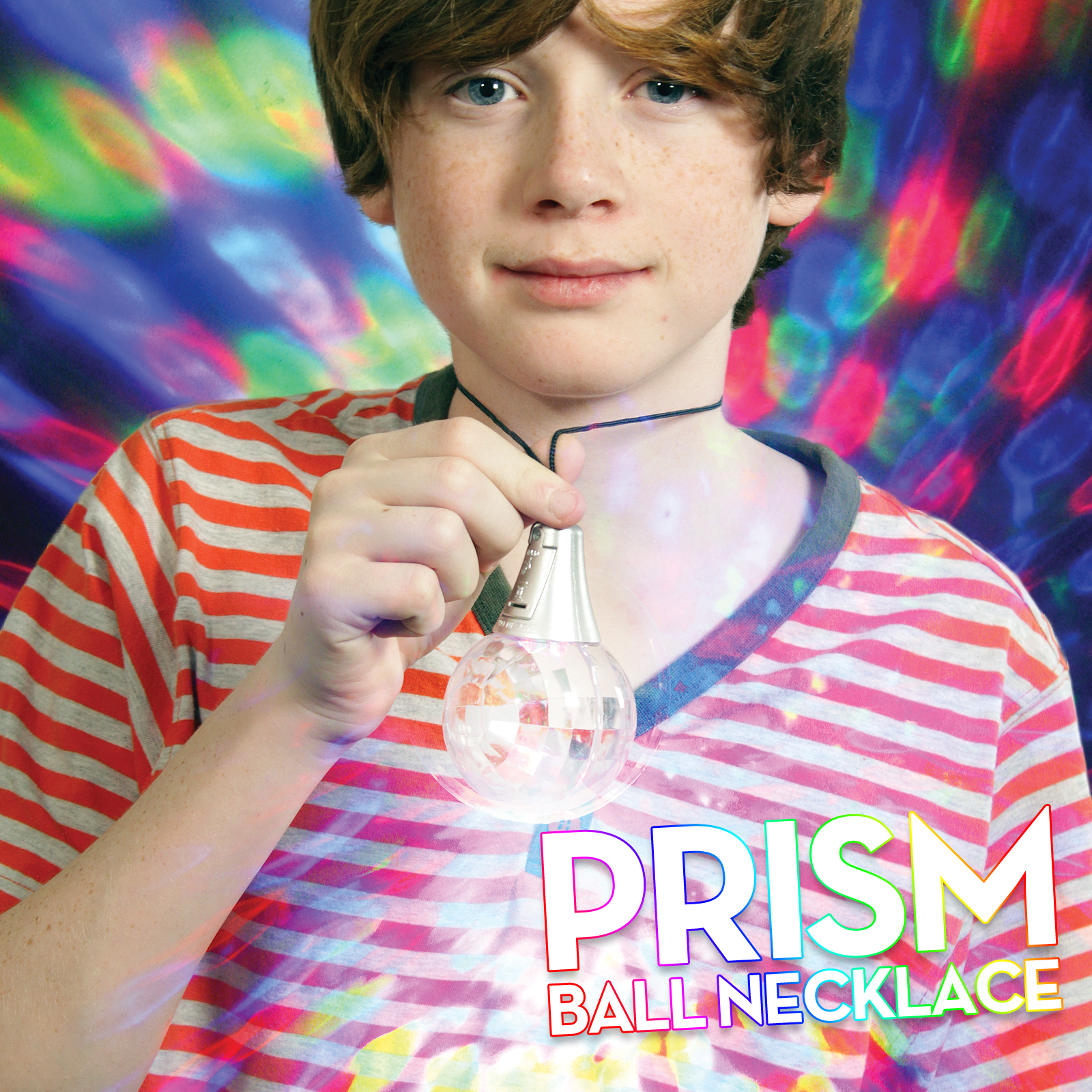 Click to view product details and reviews for Flashing Prism Ball Necklace.