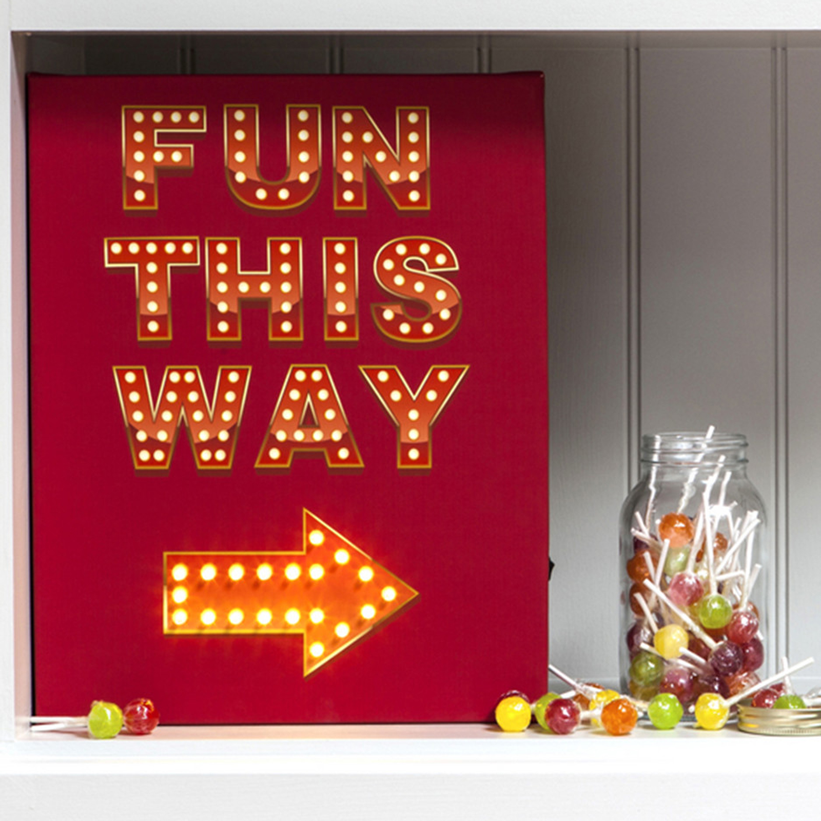 Click to view product details and reviews for Fun This Way Illuminated Canvas.
