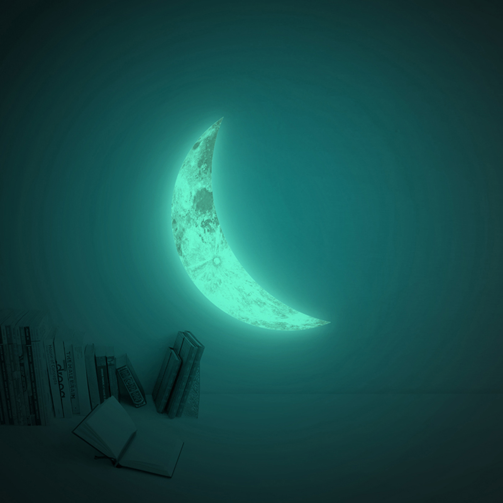 Click to view product details and reviews for Giant Crescent Moon Glow Sticker.