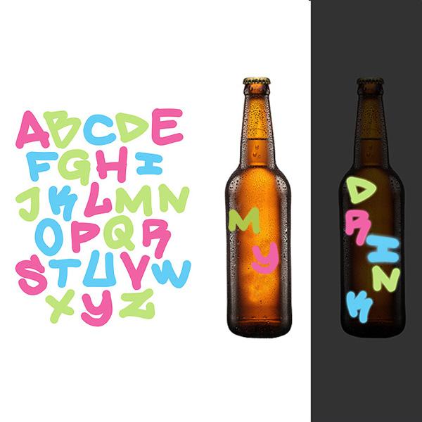 Glow Alphabet Drink Markers