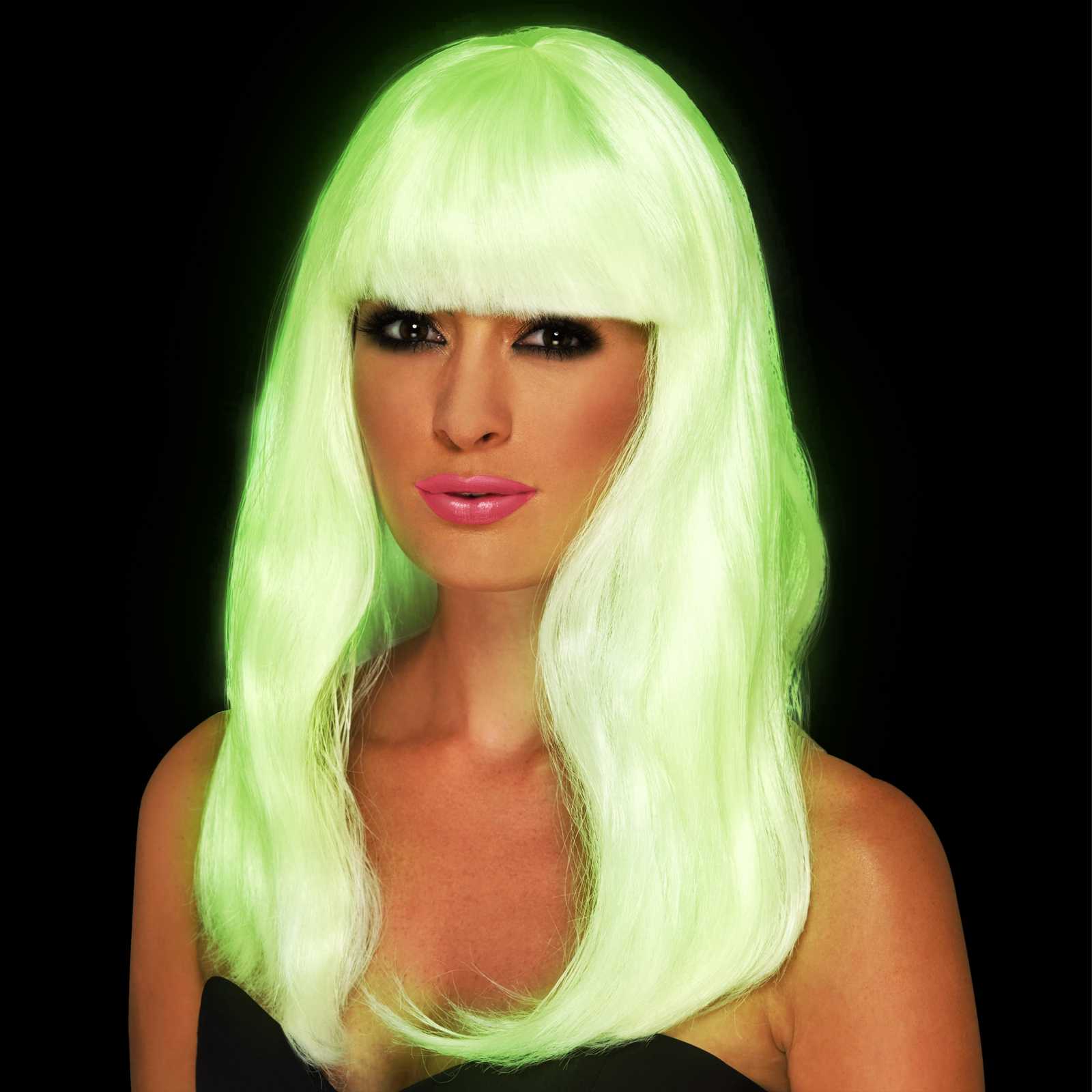 Click to view product details and reviews for Glow In The Dark Glam Wig.