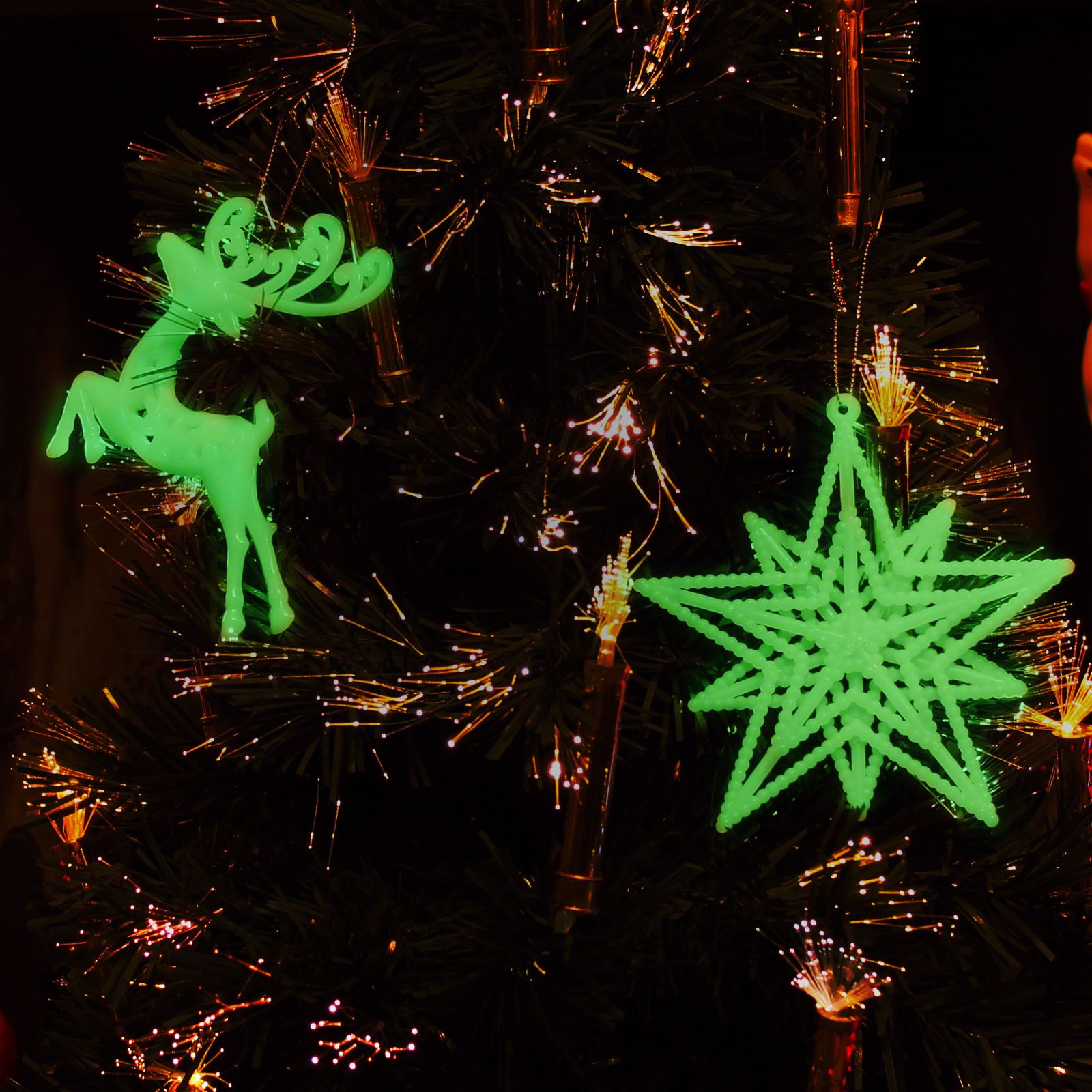 Glow in the Dark Christmas Tree Decorations