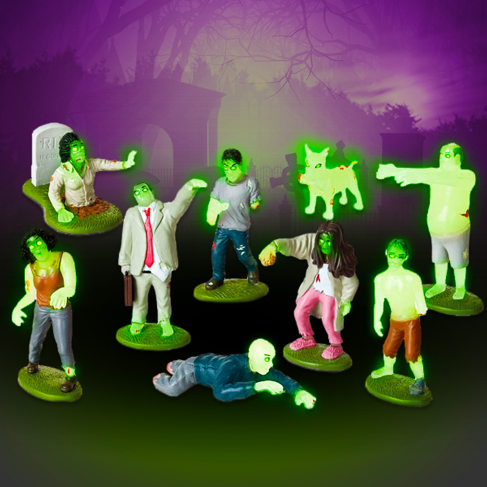 Click to view product details and reviews for Glow In The Dark Zombie Play Set.