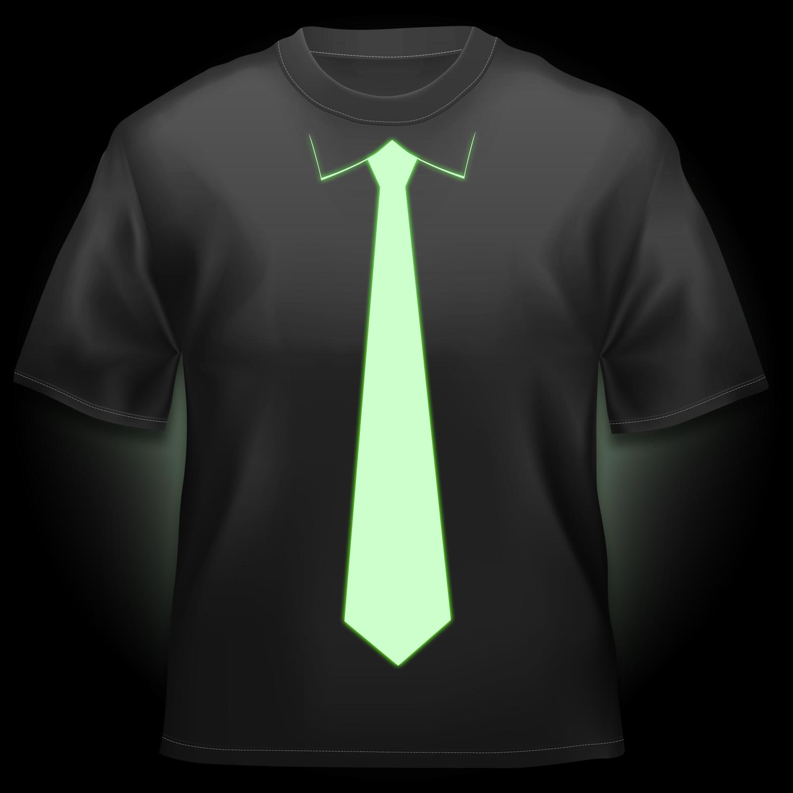Glow Tie Tshirt