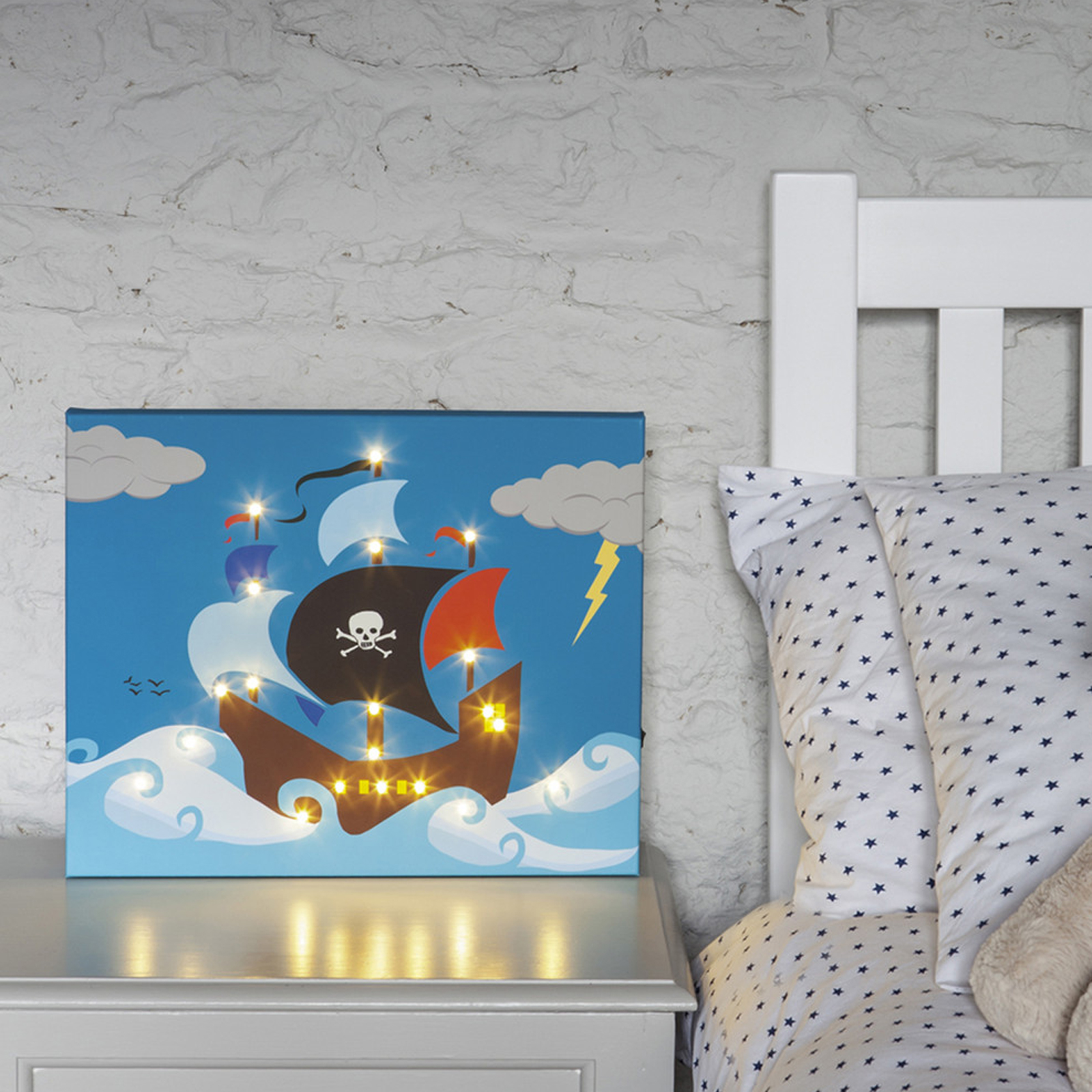 Click to view product details and reviews for Pirate Ship Illuminated Canvas.