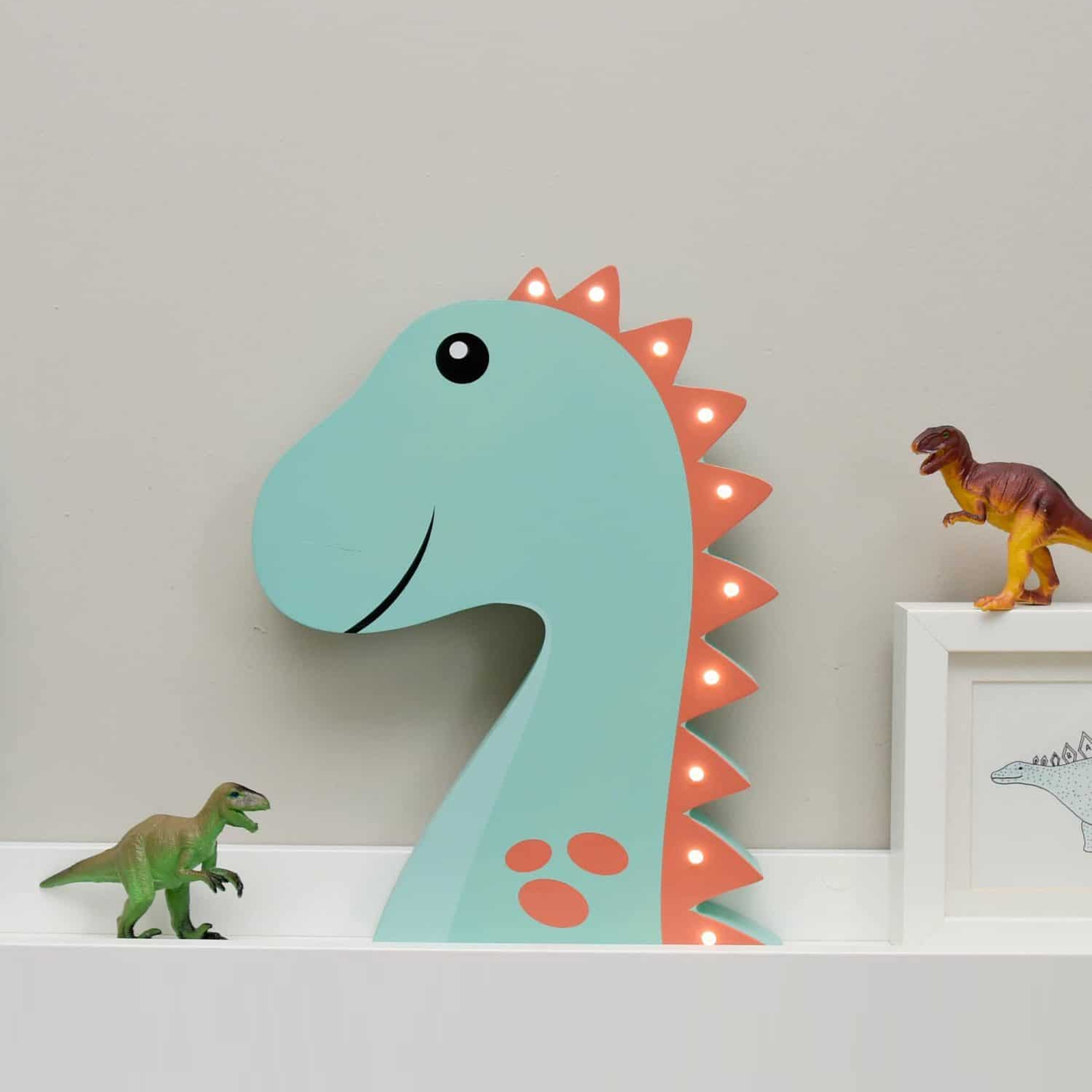 Click to view product details and reviews for Light Up Wooden Dinosaur.