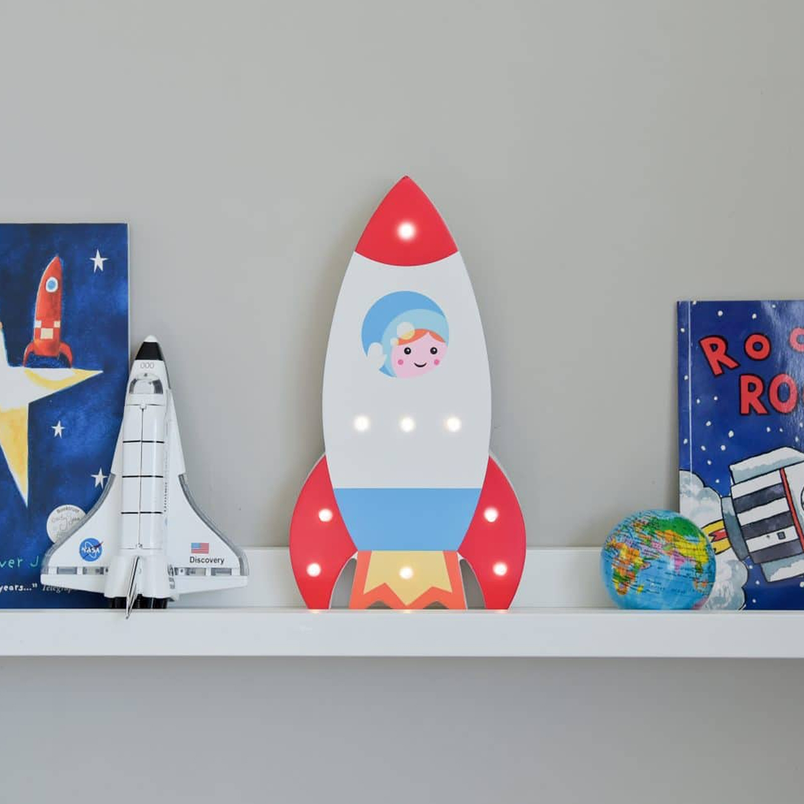 Click to view product details and reviews for Light Up Wooden Rocket.