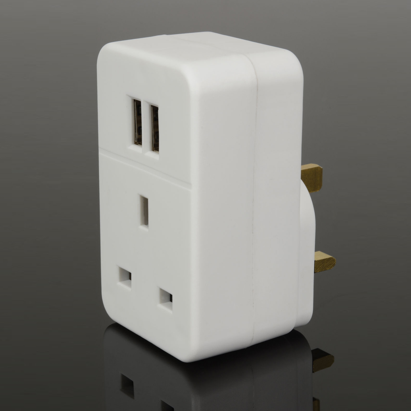 Mains Adaptor With Dual Usb Ports