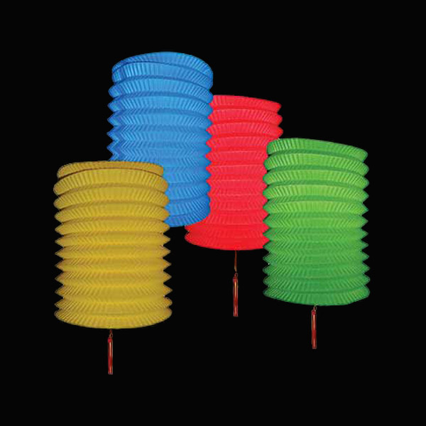 12 Mixed Colour Festival Lanterns