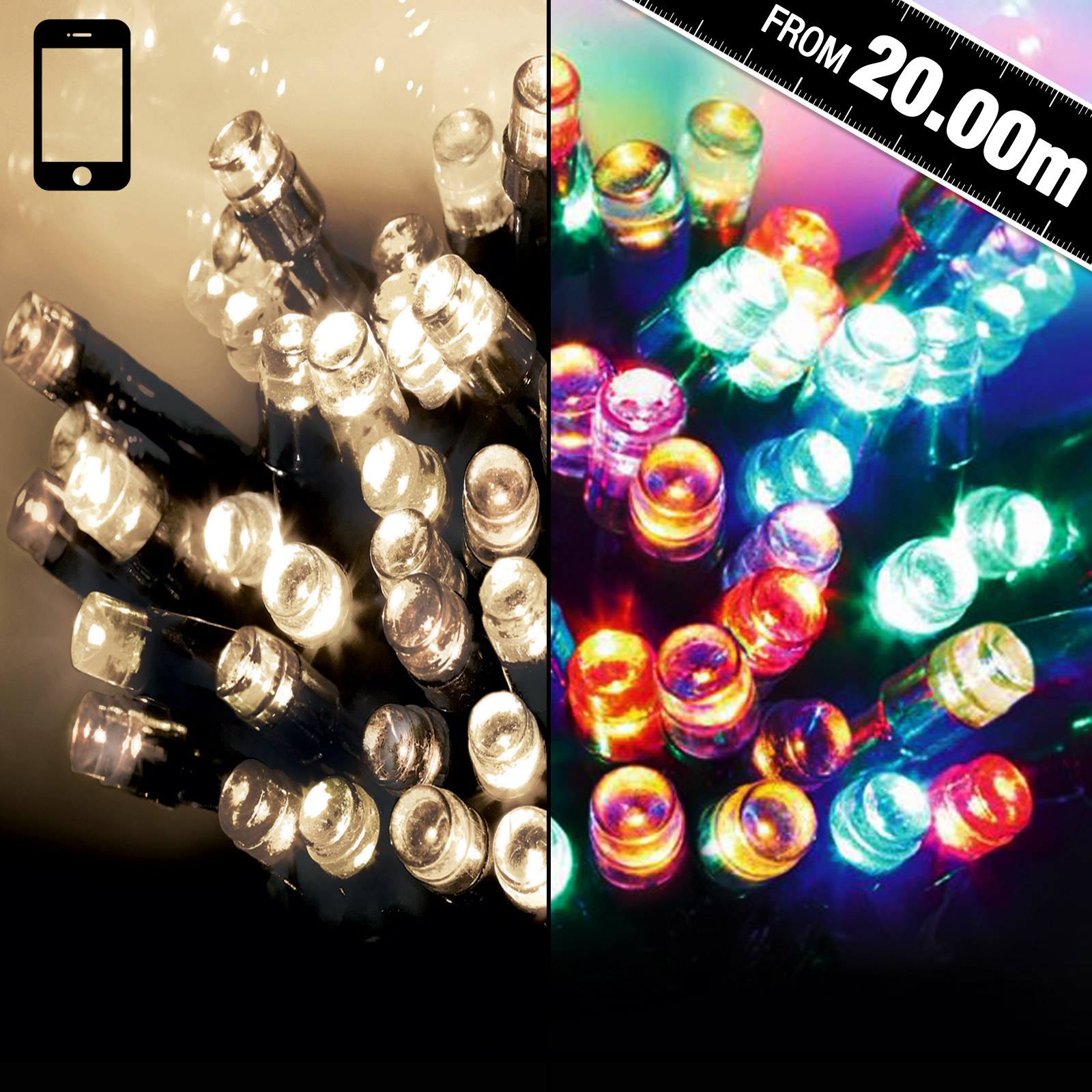 Click to view product details and reviews for Multi Action 200 Smartbright String Lights.