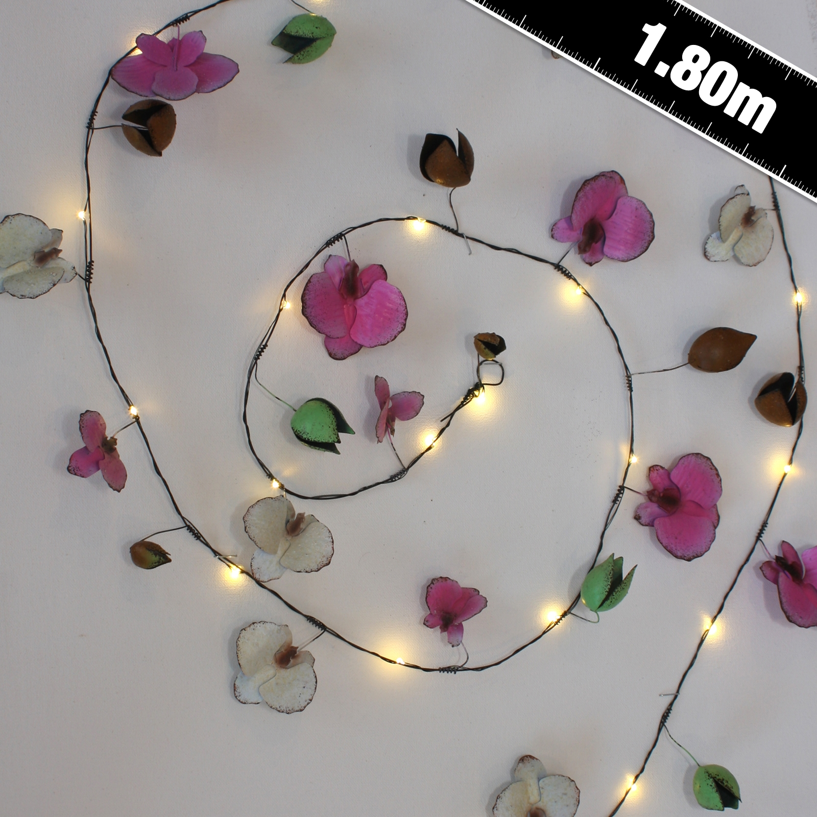 Click to view product details and reviews for Orchid Metal Floral String Lights.