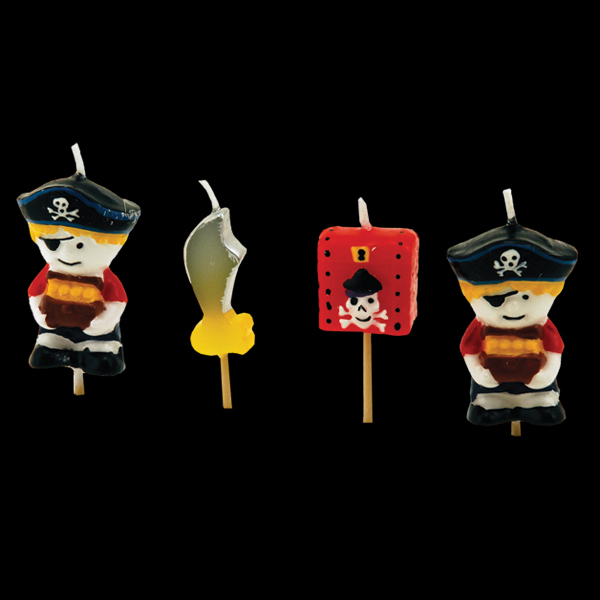 Pirate Candles (4 Pack)