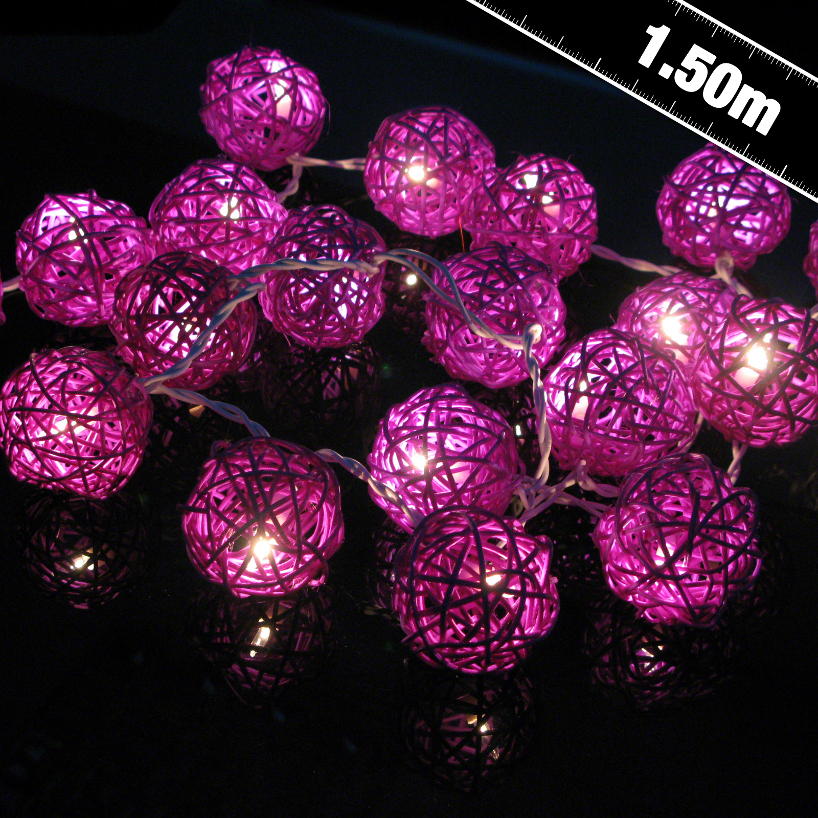 Click to view product details and reviews for Purple Rattan Stringlights.