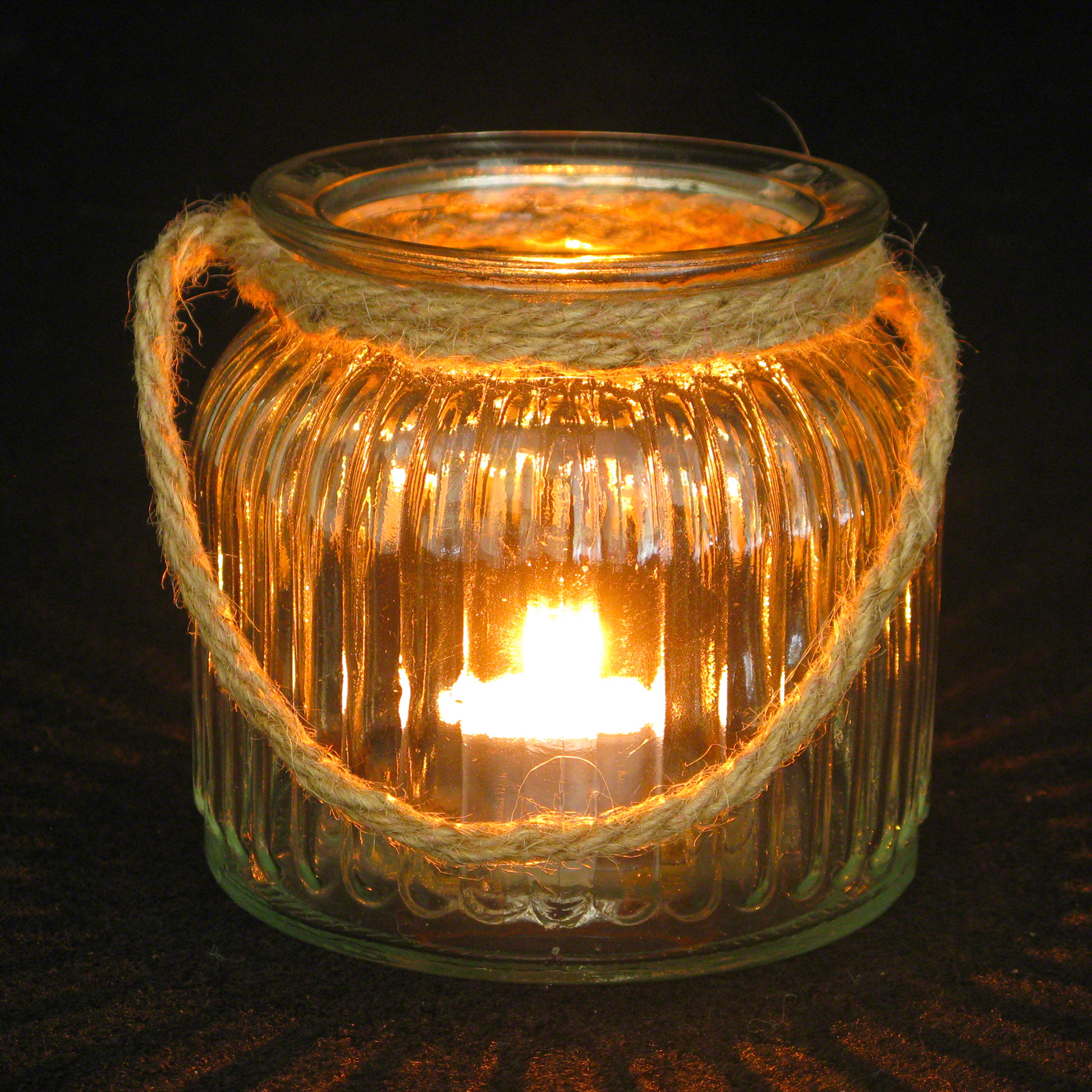 Click to view product details and reviews for Rope Handle Candle Holder 10cm.